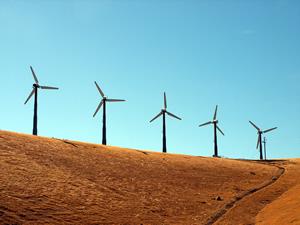 Torres de geração de energia eólica